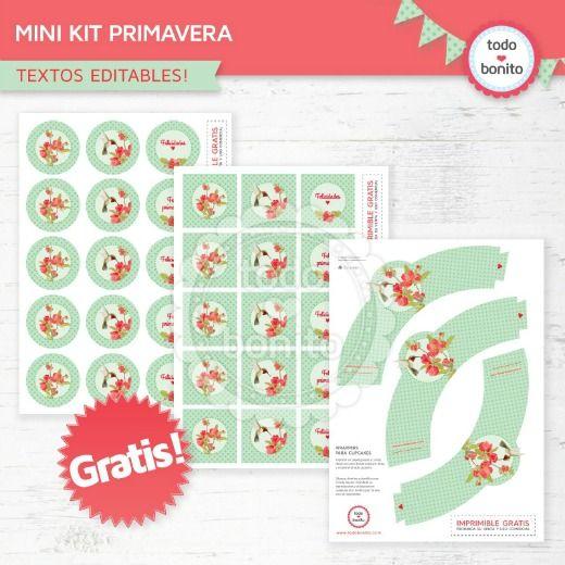 Kit imprimible Fiesta de Primavera - DECORACIÓN FIESTAS   P/IMPRIMIR ...