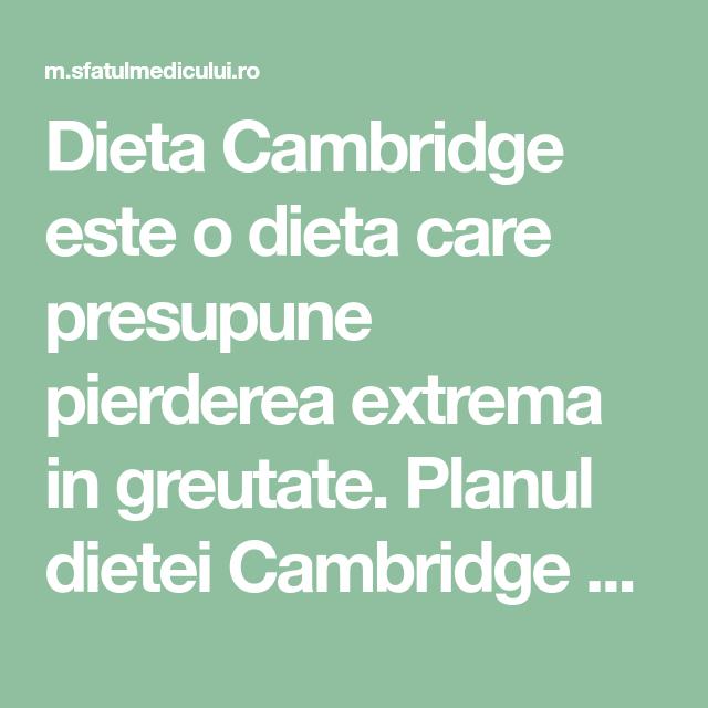 rezultatele pierderii în greutate cambridge