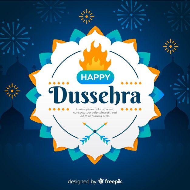 Download Happy Dussehra Celebration On Flat Design
