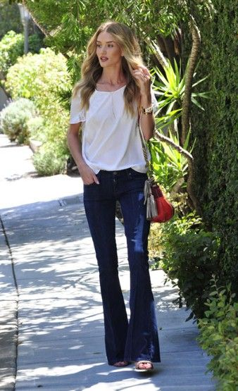 Rosie Huntington-Whiteley style, jeans, model style #street