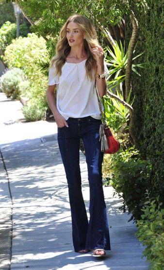 Rosie Huntington-Whiteley style, jeans, model style #street