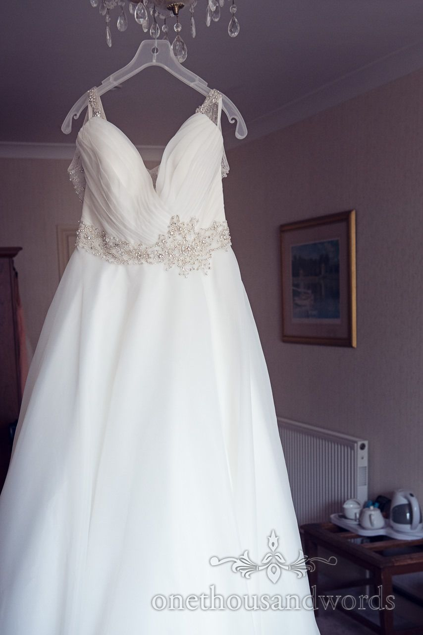 Hanging dress from Bournemouth Hotel Wedding. Photography by one ...