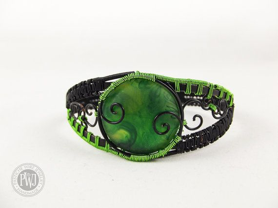 Green Route Iron by PasticheWireJewelry on Etsy