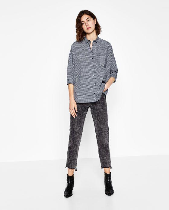 Image 1 of FULL CHECKED SHIRT from Zara