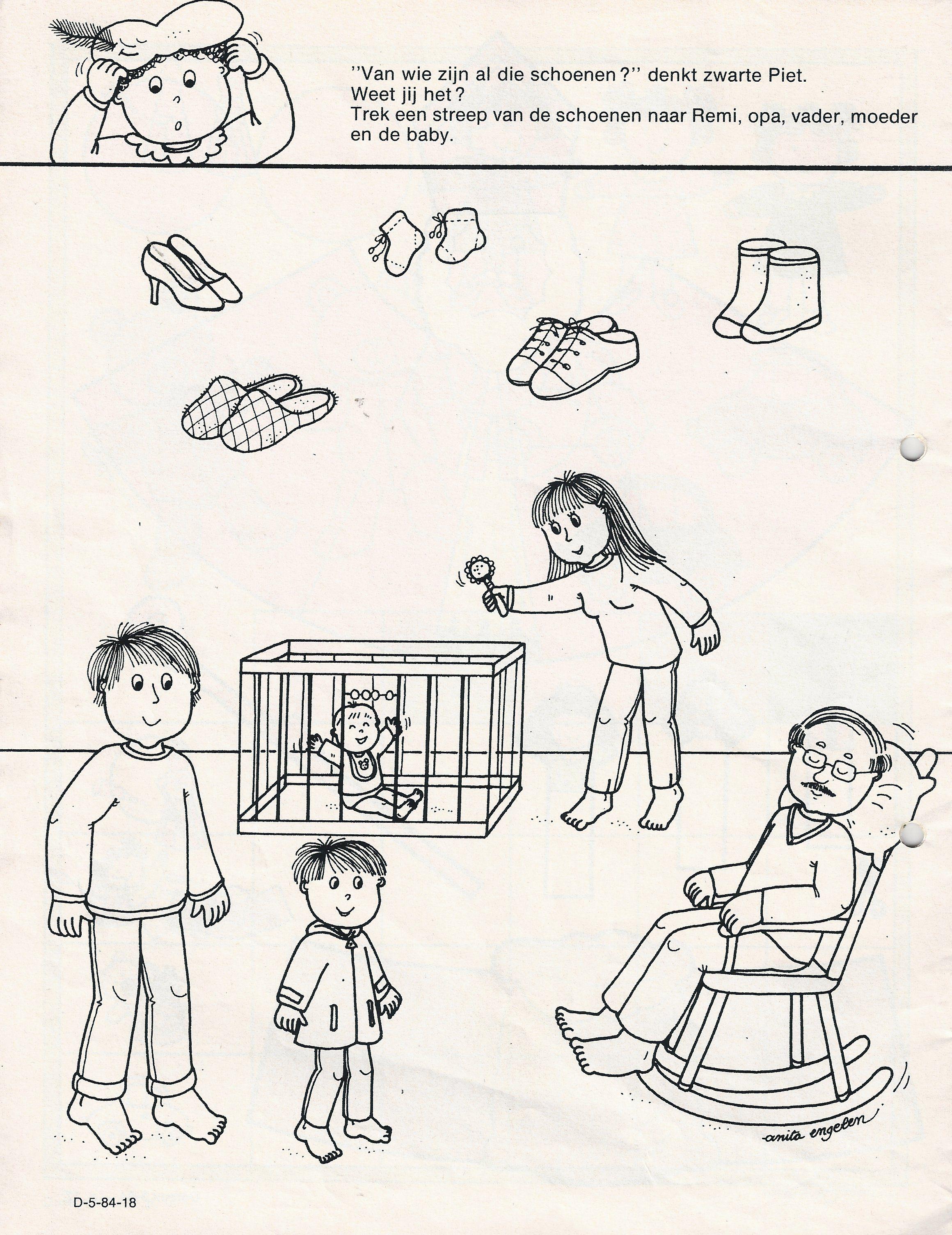 Werkblad Van Wie Zijn Die Schoenen Schoenenwinkel Schoenen Schaatsen