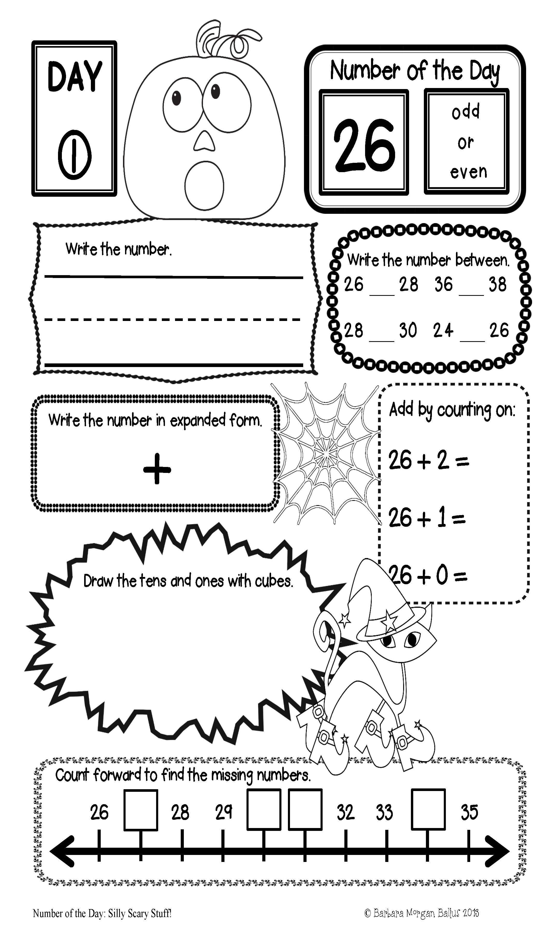 Place Value Morning Work Number Sense Math First Grade