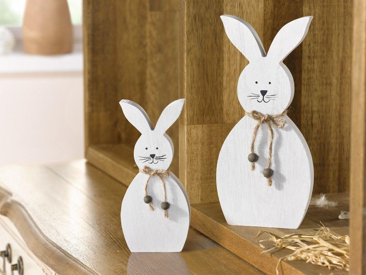 deko hase white 2er set jetzt f r 4 50 kaufen im frank flechtwaren und deko online shop. Black Bedroom Furniture Sets. Home Design Ideas