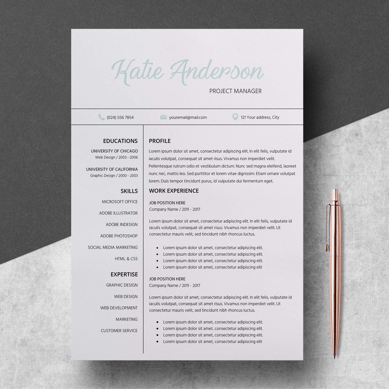 Creative Resume Template, Modern Resume, Professional Resume ...