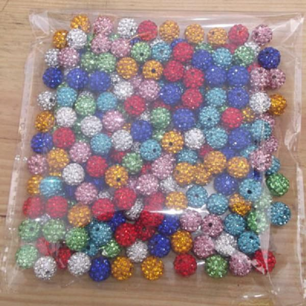 Freeshipping Grade AA 50 stück lot 10mm 6 Reihe Kristall Disco-Kugel Shamballa Perlen fit shamballa armband 16 farbe pick