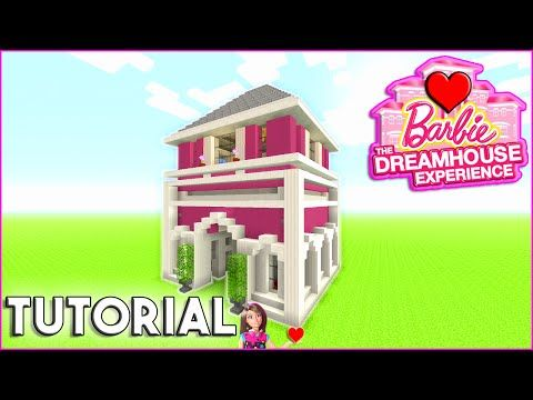 Minecraft Tutorial How To Build Barbie Dream House Survival House How To Make Pink Youtube In 2020 Minecraft Tutorial Barbie Dream House Minecraft House Designs
