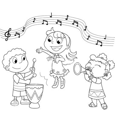 Group Of Children Singing Colouring Pages Disegni Da Colorare Libri Da Colorare Bambini