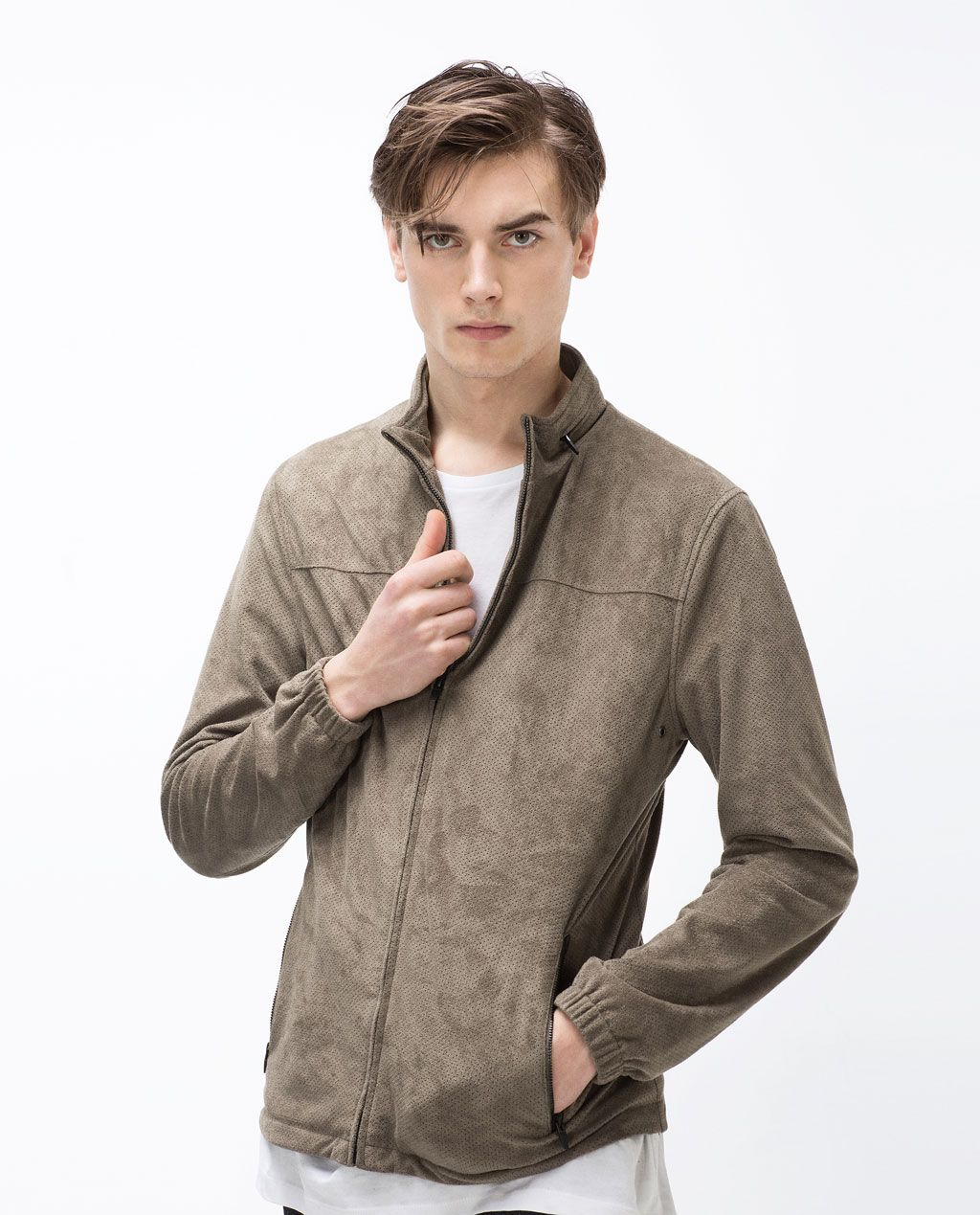 Perforated Faux Suede Jacket Jackets Man Promotions Faux Suede Jacket Mens Jackets Men Sweater