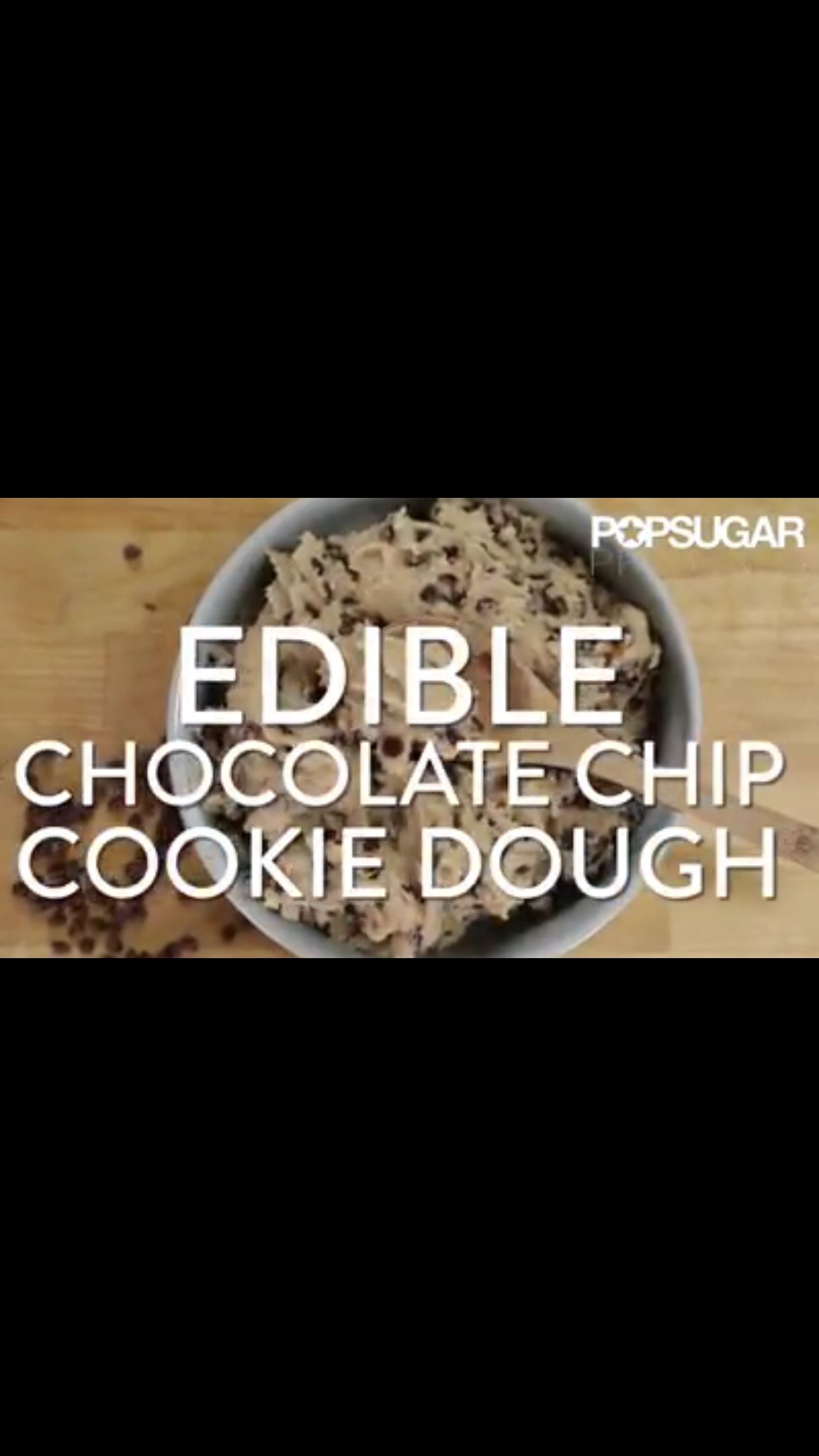 Edible Cookie Dough! It just may be the best invention since sliced bread. here's the link! https://www.facebook.com/video.php?v=10153049822025250