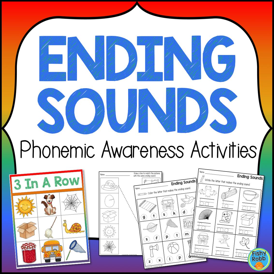 Ending Sounds Phonemic Awareness