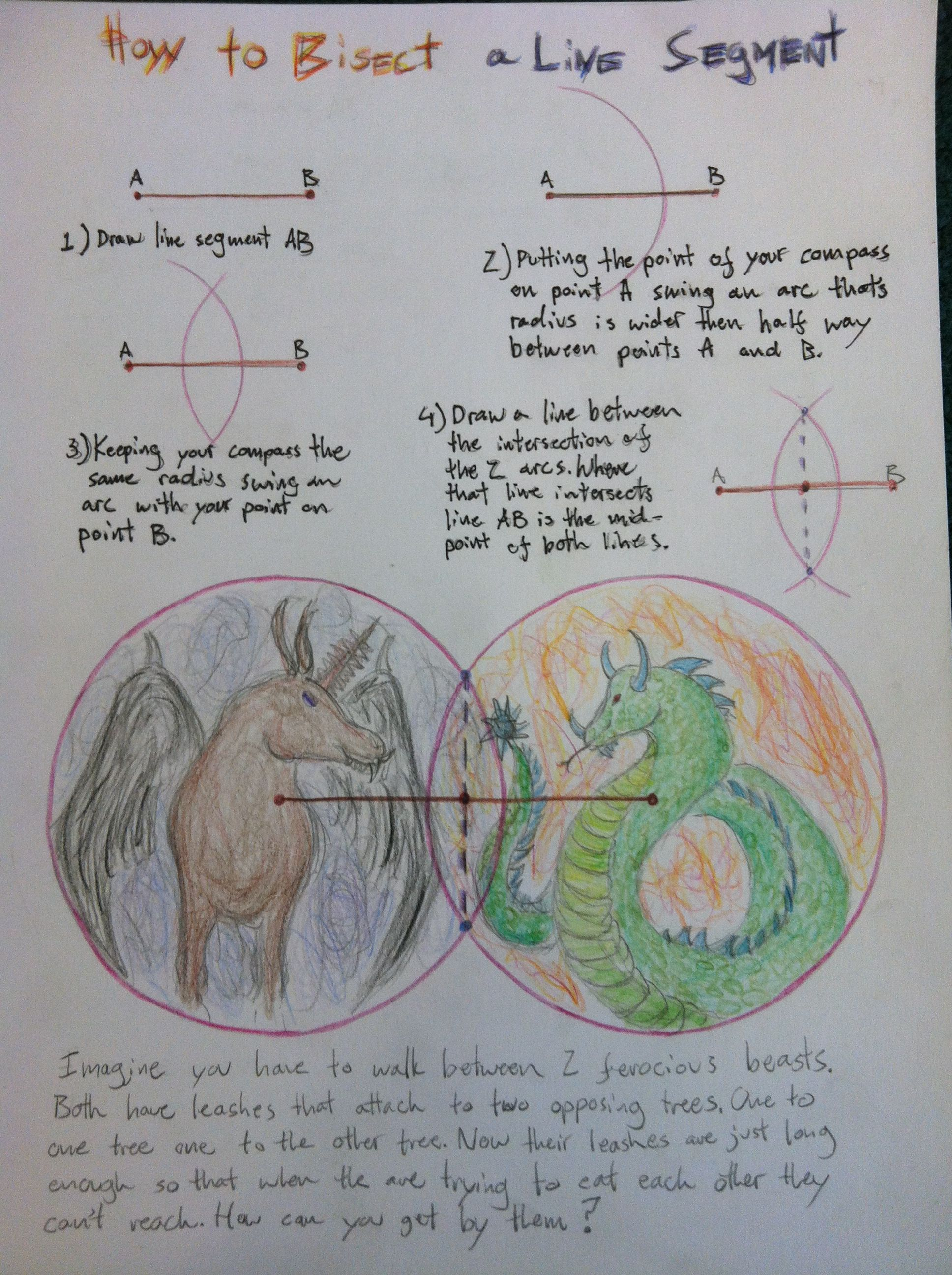 Geometry Dangerous Beasts How To Bisect A Line 6 8th