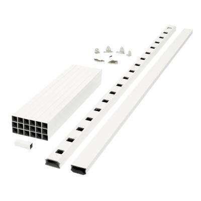 Best Regency 8 Ft X 3 Ft White Capped Composite Rail Section 400 x 300