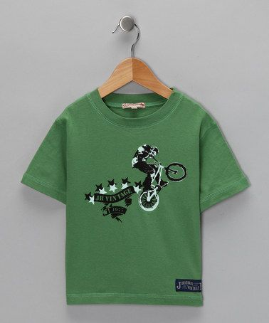 Take a look at this Green Five Star Tee - Infant, Toddler & Boys  by JB Original Vintage on #zulily today!