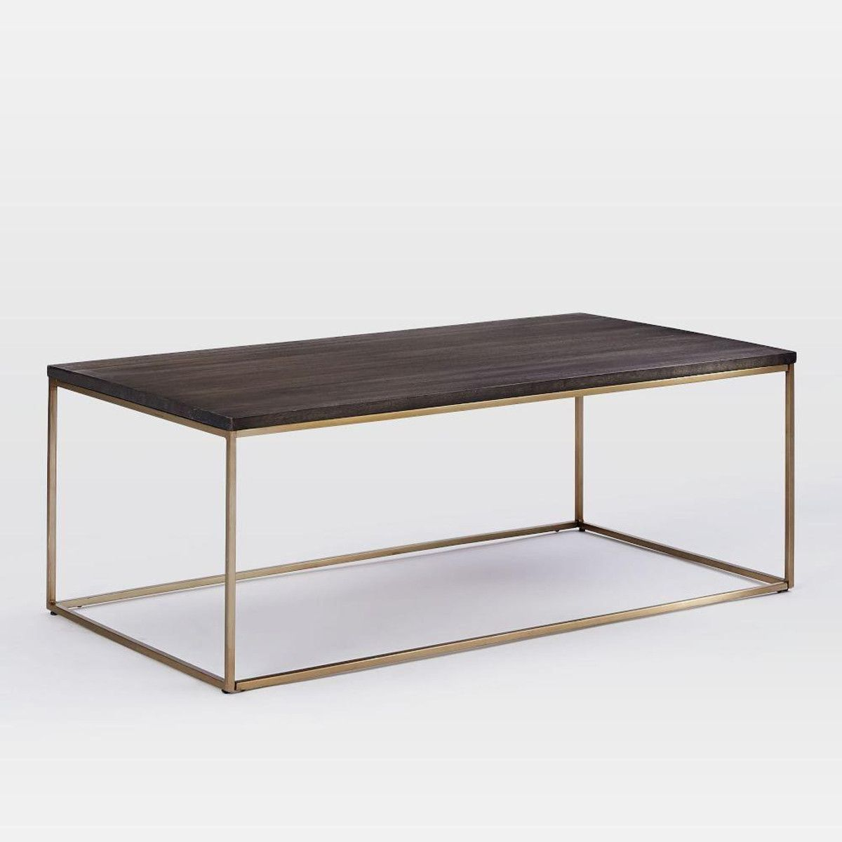 Streamline Coffee Table UmberAntique Brass Aldgate Pinterest - Brushed brass side table