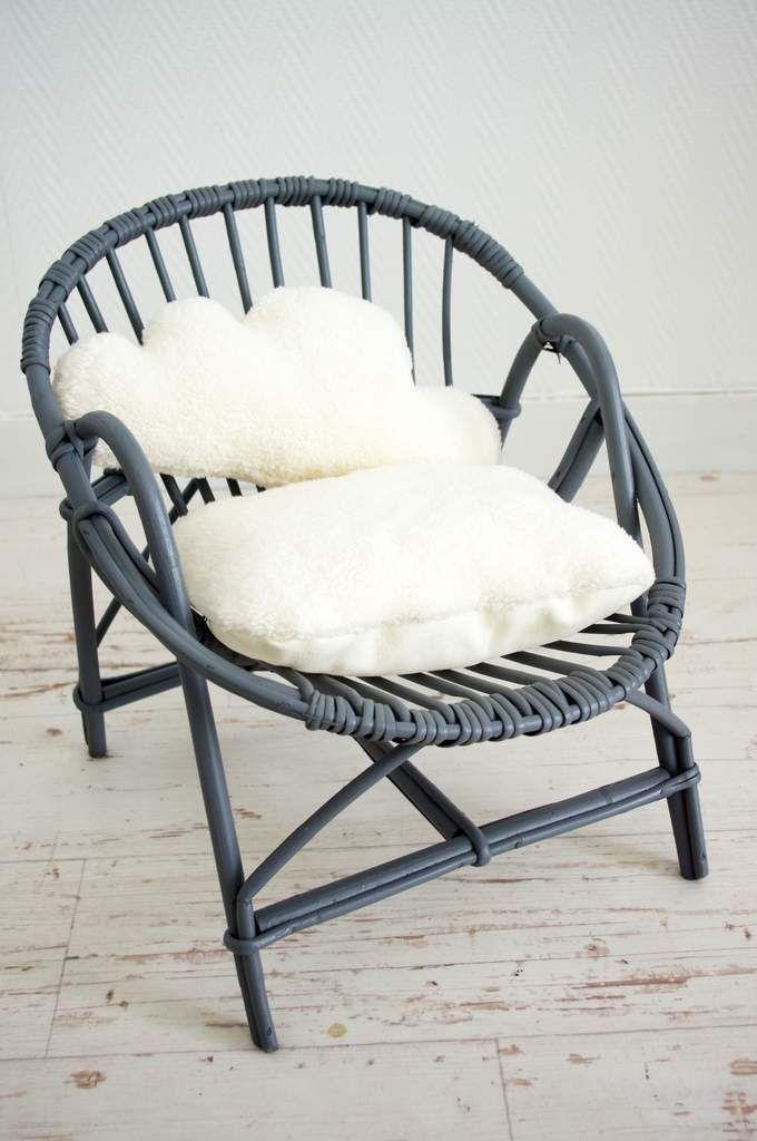 Fauteuil coquille gris pour enfant | relooking meubles anciens ...