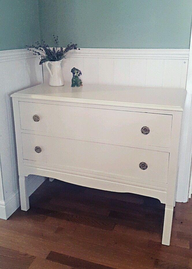 Vintage retro updated refurbished chest of drawers