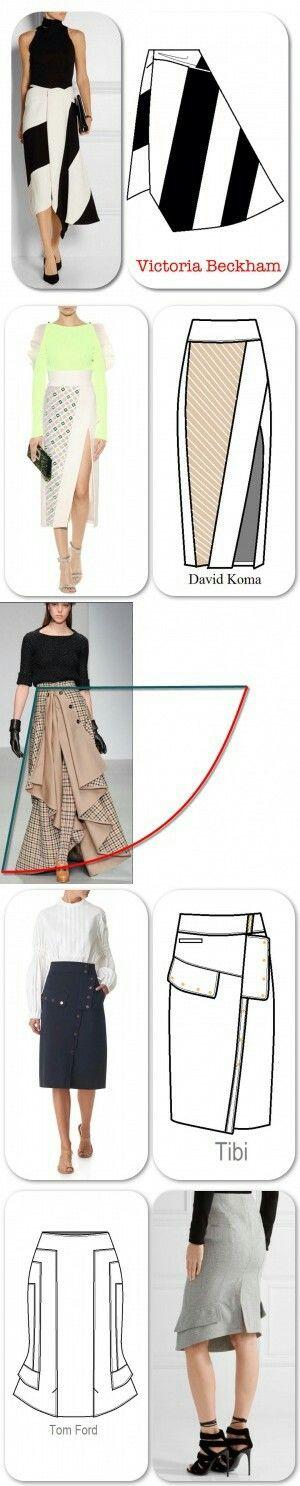 Interesting skirt models...<3 Deniz <3 | Design | Pinterest | Falda ...
