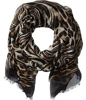 MICHAEL Michael Kors Moire Leopard Scarf Info