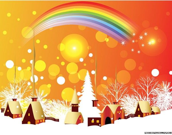 Christmas Rainbow Christmas Paintings Christmas