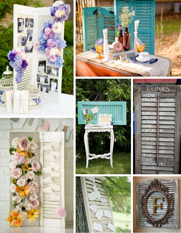 Old window shutters as wedding decor I really must include this