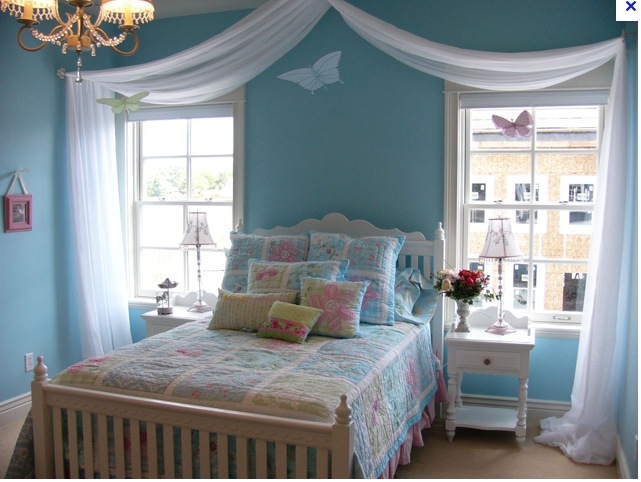 awesome teen girl bedroom idea | 50+ Awesome Blue Bedroom Ideas for Kids | Girl bedroom ...