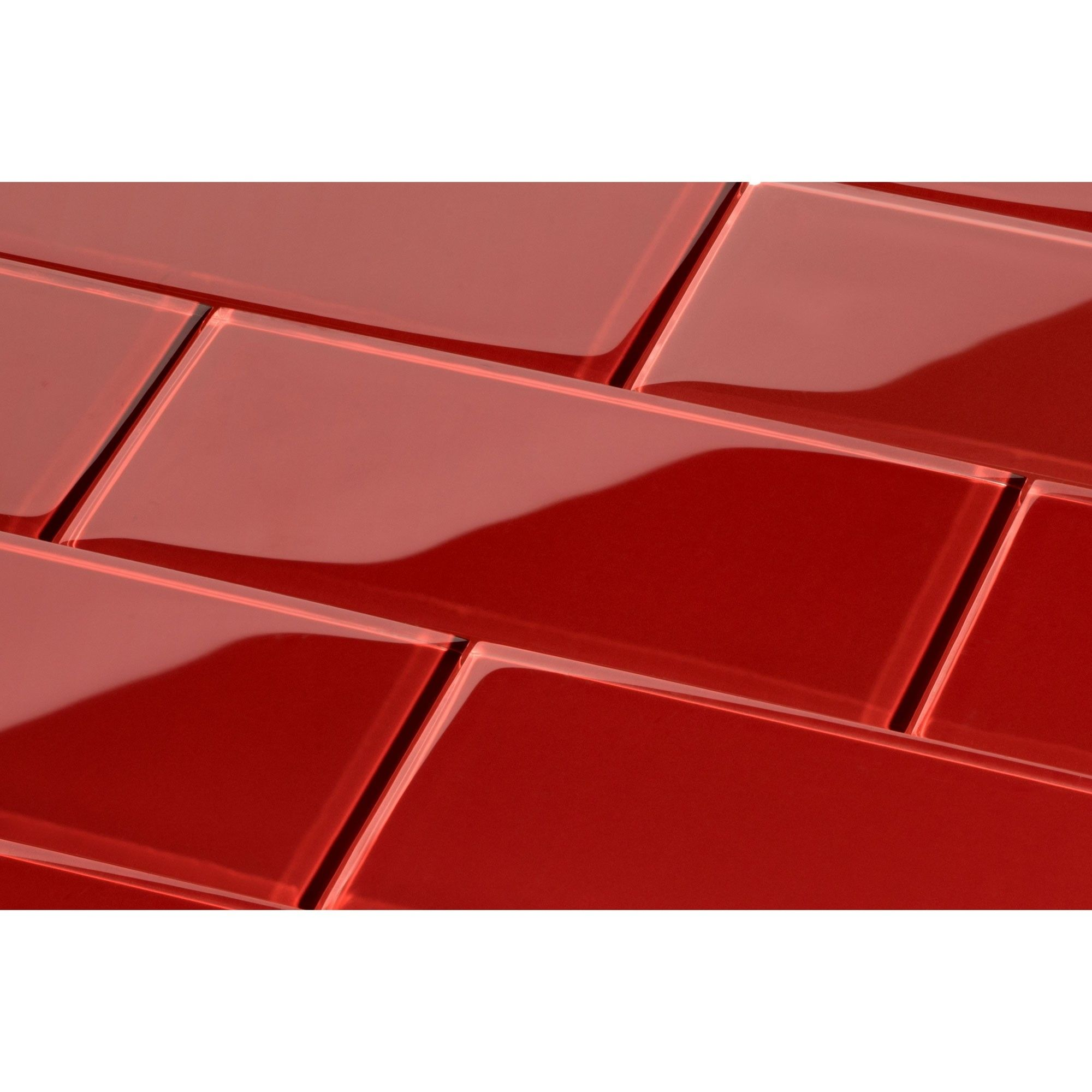 Red Glass Subway Tile Glossy 3 X 6 Glass Tile Glass Subway Tile Subway Tile Glass Subway Tile Backsplash