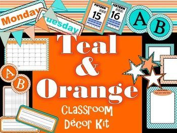 Find your decorating joy with this classroom dcor kit! - over 100 items in all... Classroom Dcor Kit includes:- Editable newsletter template - Fully editable academic calendar- ABC word wall headers in two different colors- Book tub labels - just click-type-and print!- 2 full page checklist charts (one with 25 lines & one with 30)- full page frames/headers - Calendar headers (Jan - Dec)- Calendar number tiles (1 -31)- Desk name plates (in 3 colors)- Days of the week headers- Full page cir...