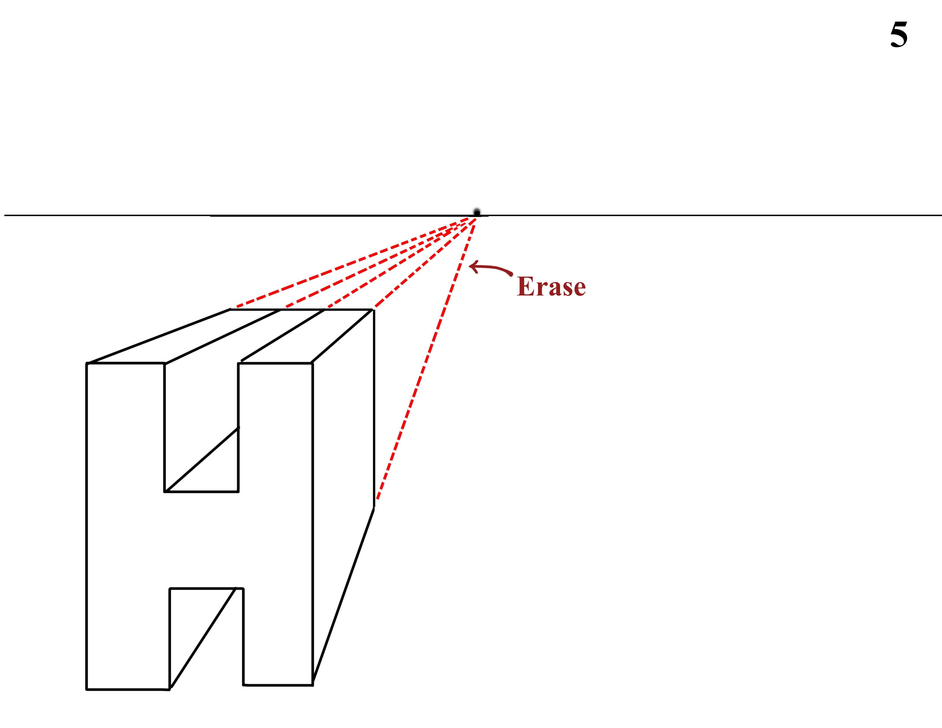 One Point Perspective Lettering
