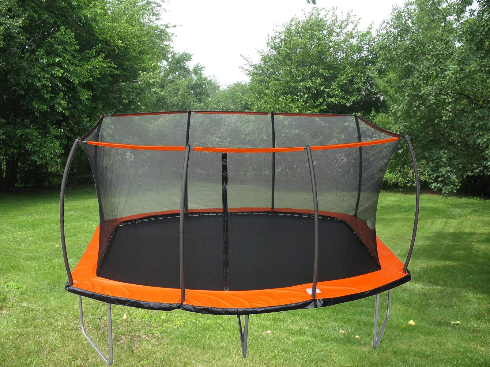 15ft X 10ft Rectangular Trampoline Patented Safety Net Combo Best Trampoline Backyard Trampoline Rectangle Trampoline