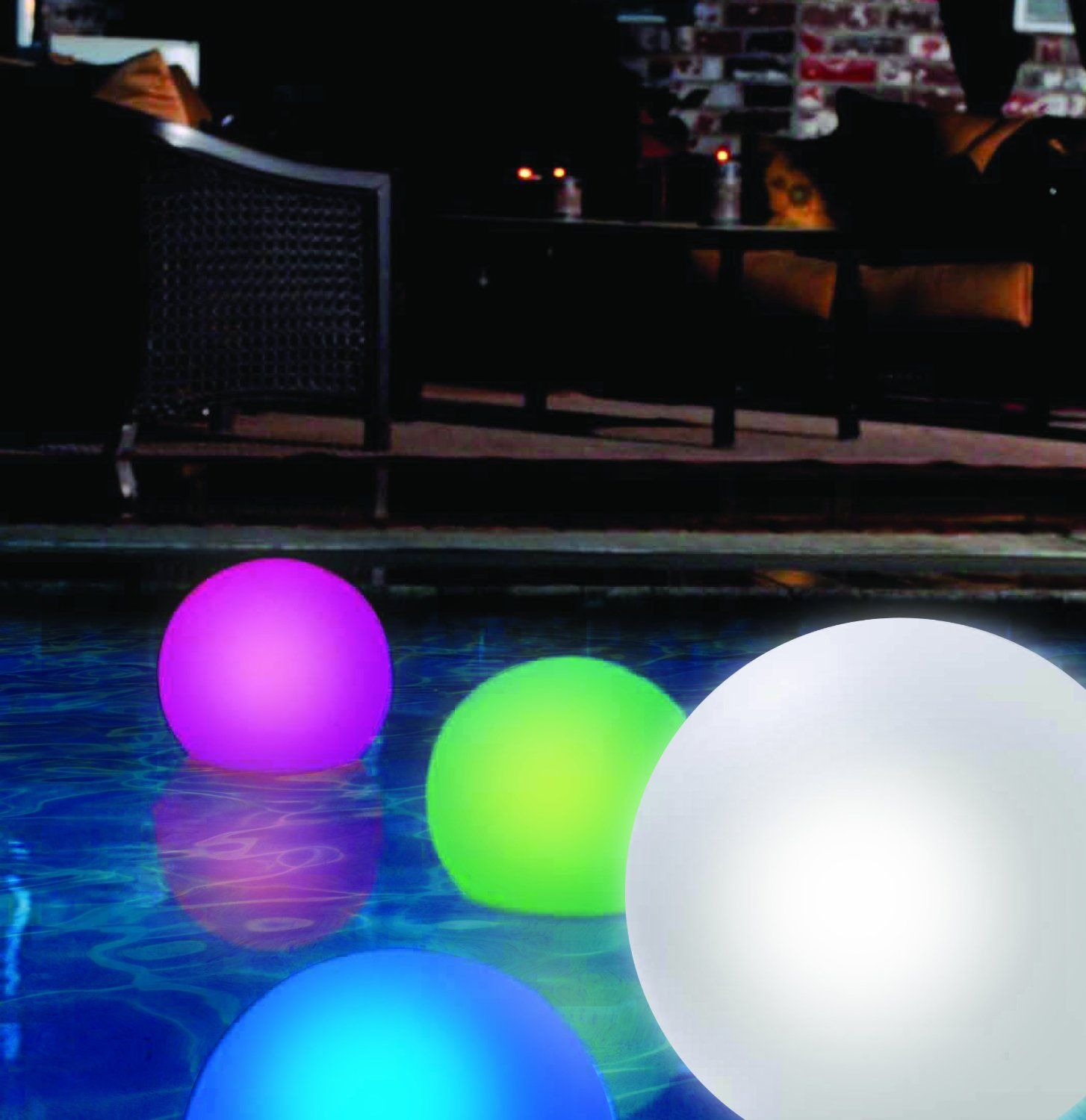 Good times floating globe with color changing