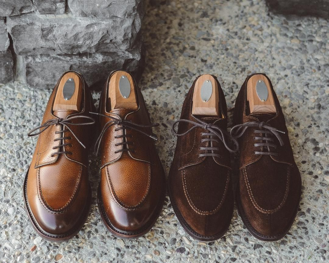 9be67345f4d The Berwick Brothers.  berwick1707 official grain u-tip and suede split  toes both via  leatherhealer. . . .  berwick1707  suede  suedeshoes   dailylast ...