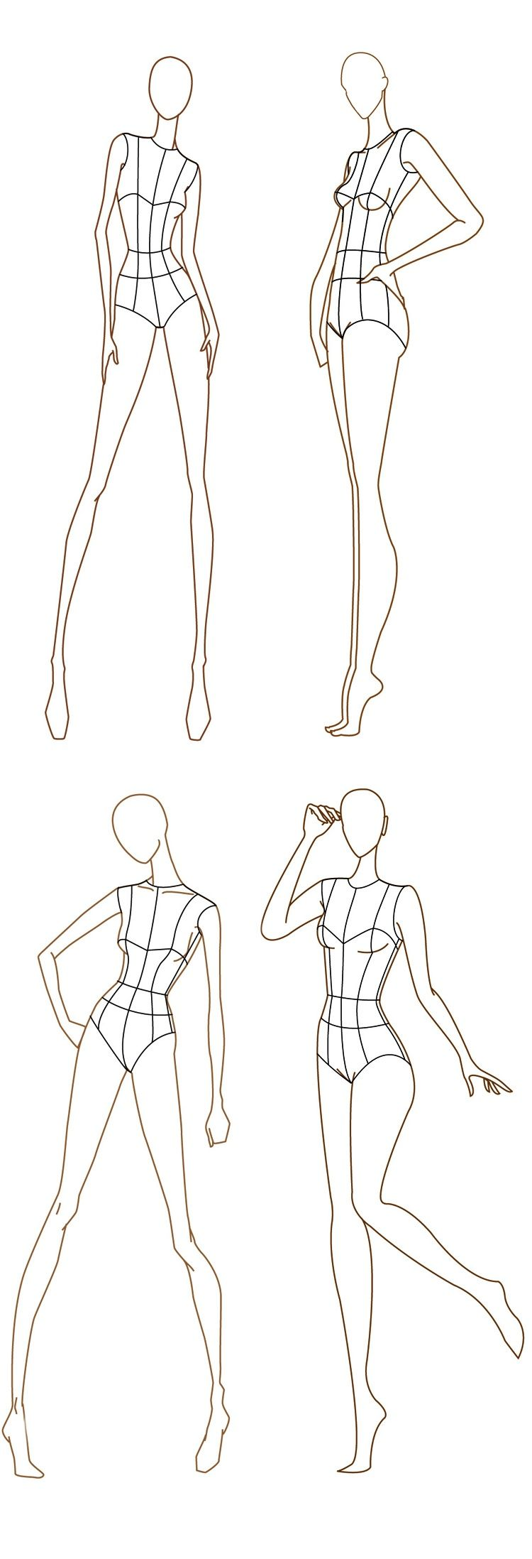 Free Fashion Croquis 120 Figure Templates