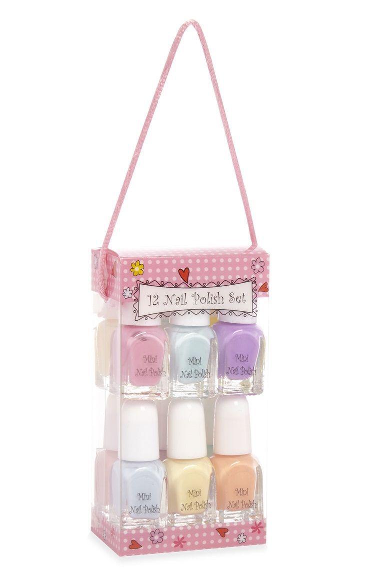 So Many Colours So Littel Time Primark 12 Pack Pastel Nail Polish Set Fake Nails For Kids Makeup Kit For Kids Kids Makeup