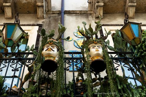 "traditional Sicilian Ceramic Heads ""Teste di Moro"" , to know more read thejuicesqueezer.com [ photo © Michael David]"