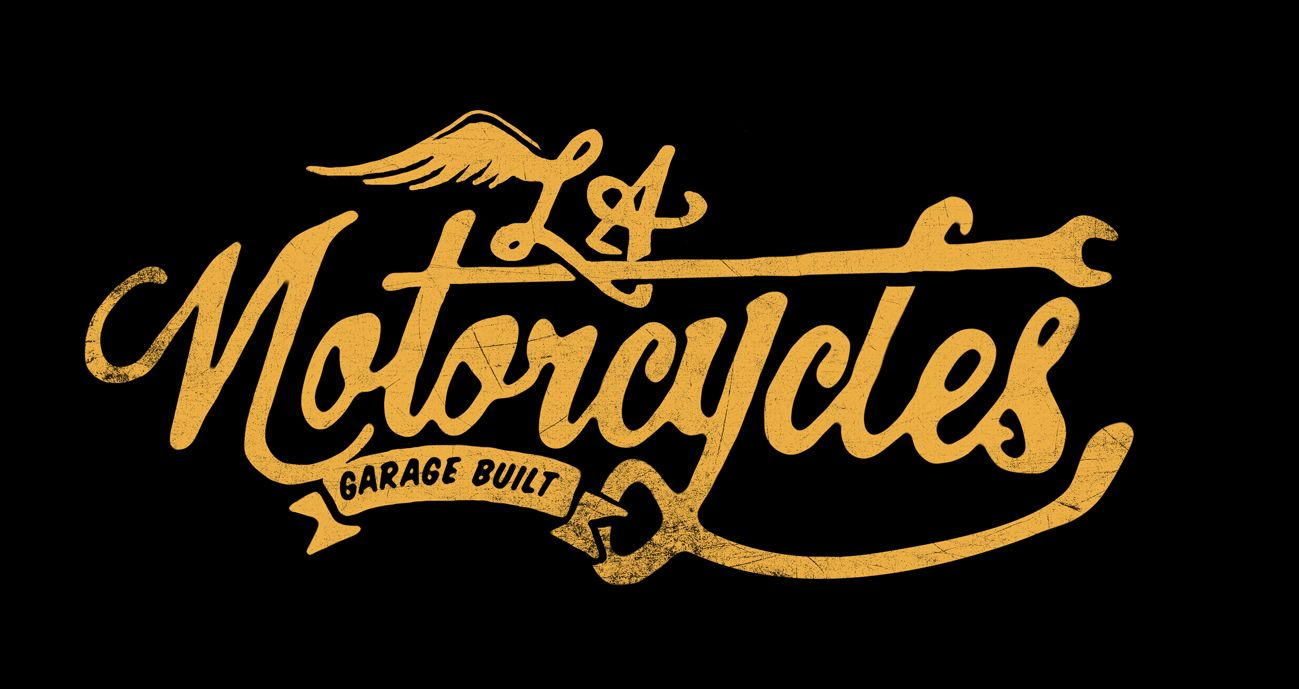 L.A. Motorcycles Hand-made Logotype - Alex Ramon Mas StudioAlex Ramon Mas Studio