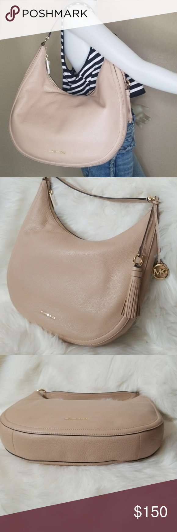 51d1602f8314 NWT MichaeL Kors Lydia Large Hobo With Tassel Bag NEW WITH TAGS - AUTHENTIC  --
