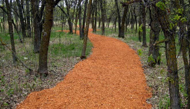 mulch walking path garden