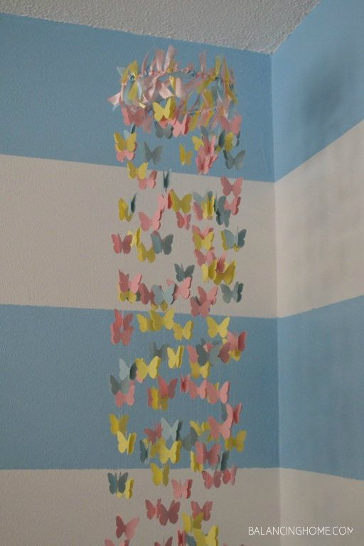 DIY Butterflly mobile