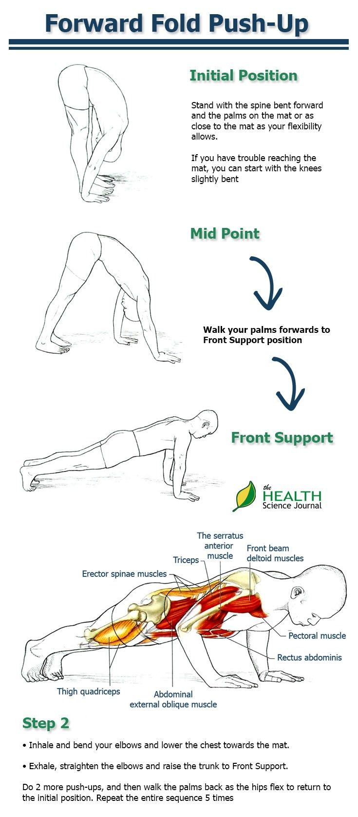Forward Fold Push-Up – Why This is the Best Push-Up Variation for ...
