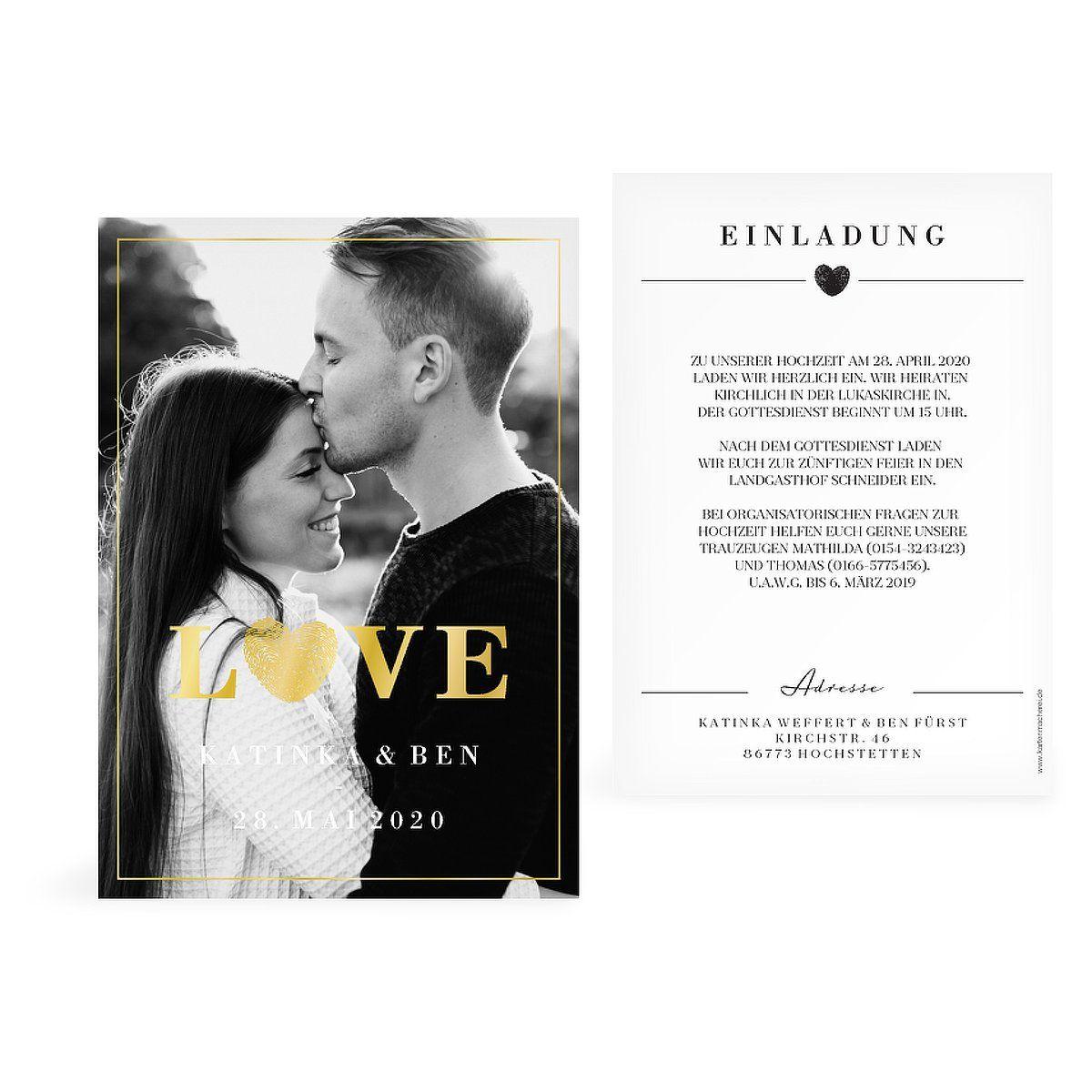 """Hochzeitseinladung """"Loveprint Premium"""""""