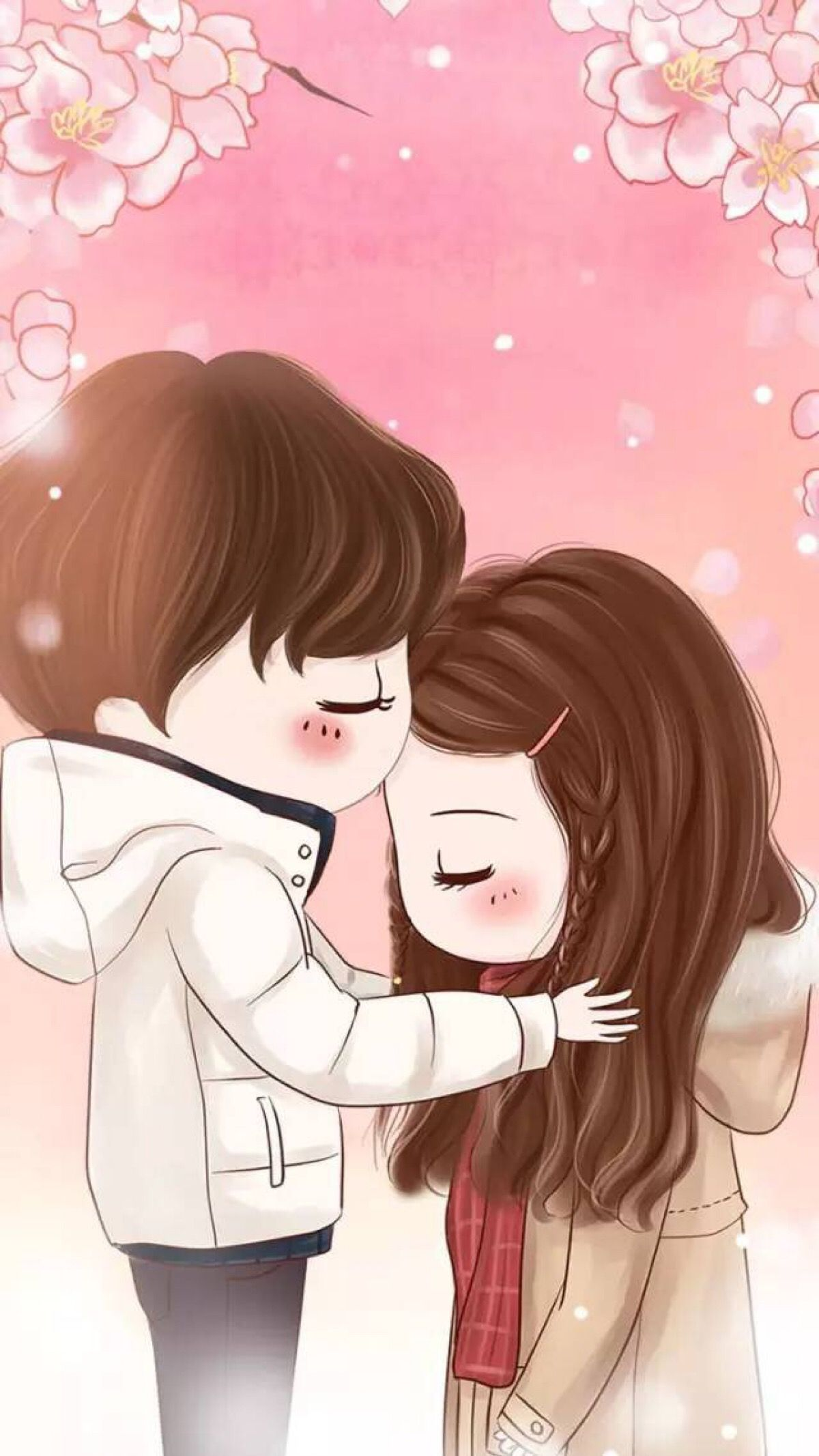 Pin By Thanh Thanh On Chibi Girls Cute Couple Wallpaper Love Cartoon Couple Anime Love Couple