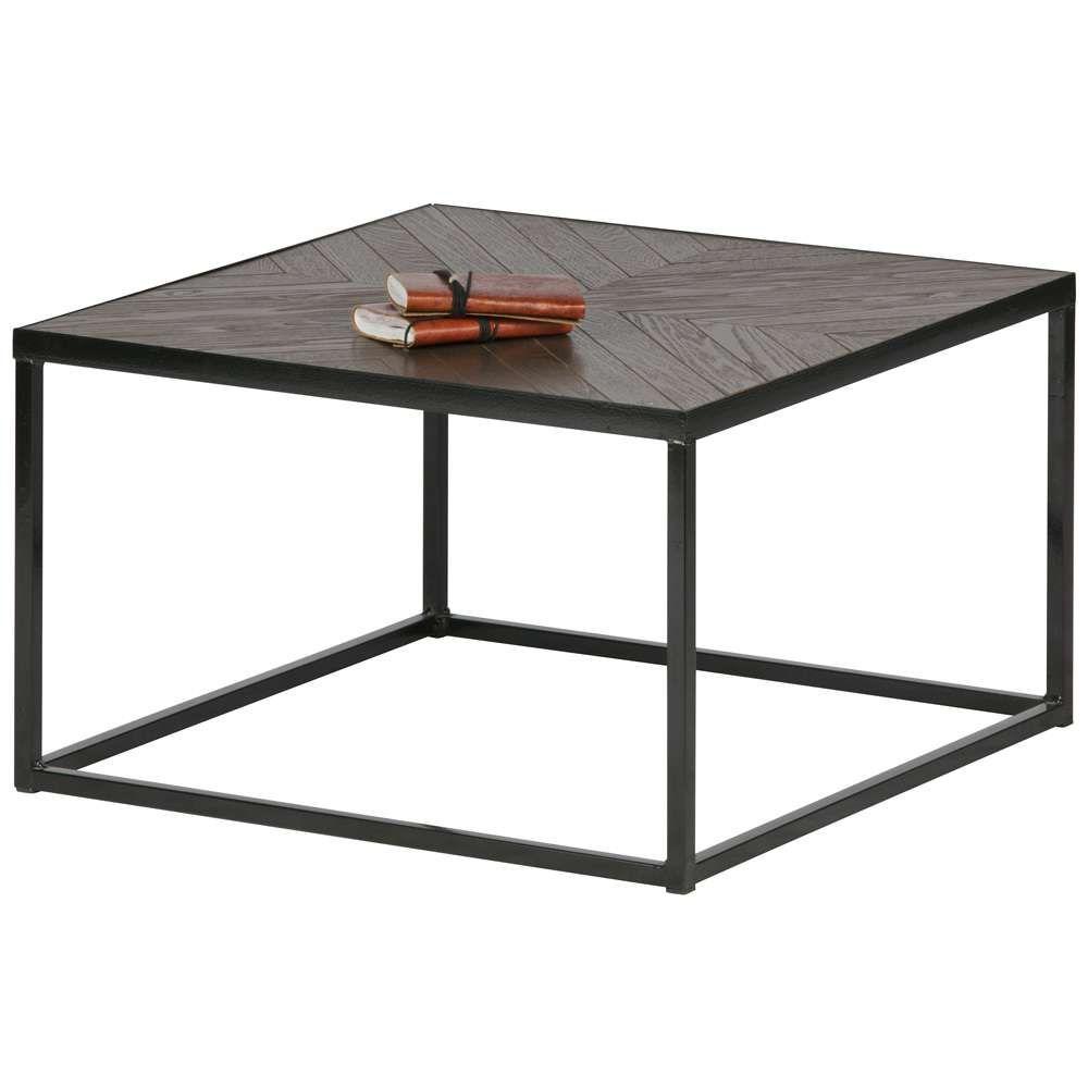 Beistelltisch Couchtisch Rio 60 X 60 Cm Tisch Kaffeetisch Metall Holz Braun Couchtisch Beistelltisch
