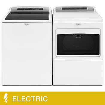 Whirlpool 4.8CuFt High-Efficiency Top Load Washer with Built-In Water Faucet 7.4CuFt Large Capacity ELECTRIC Dryer with H&er Door in White | Pinterest ...  sc 1 st  Pinterest & Whirlpool 4.8CuFt High-Efficiency Top Load Washer with Built-In ...