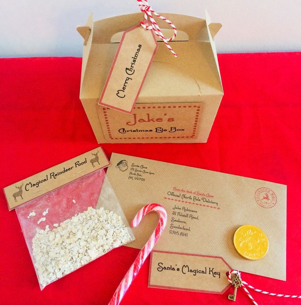 Christmas eve box personalised santa letter magic key reindeer christmas eve box personalised santa letter magic key reindeer food spiritdancerdesigns Image collections