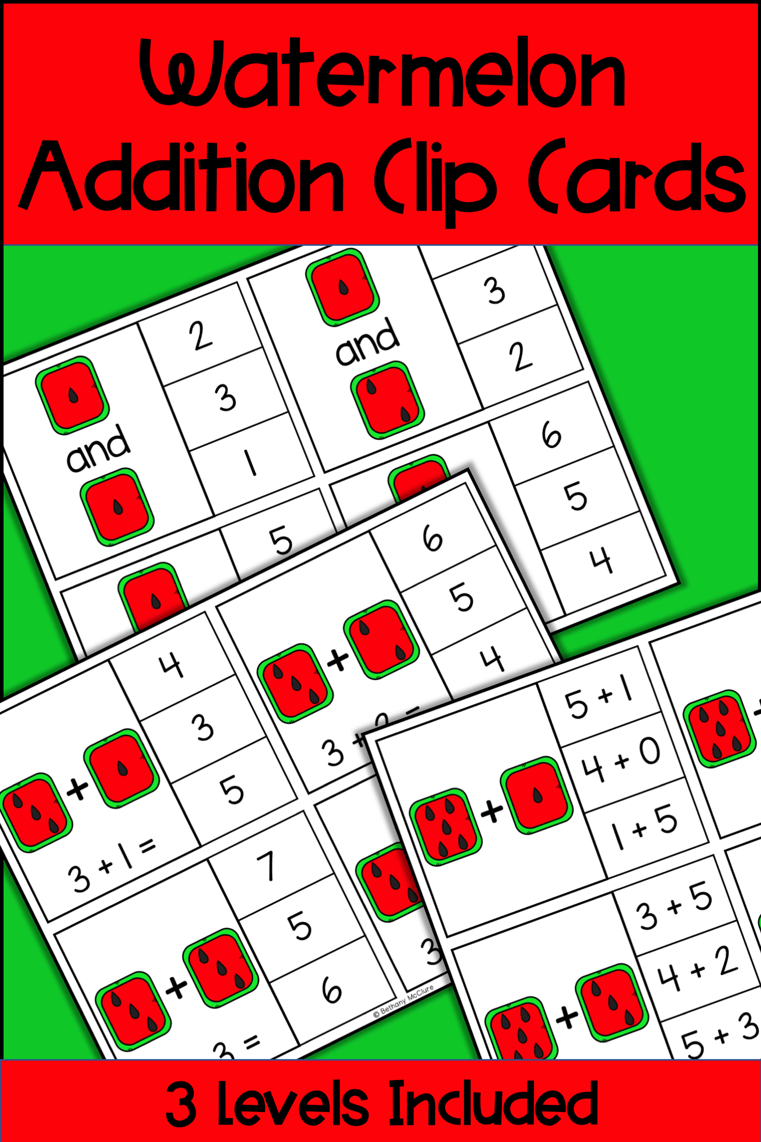 Watermelon Addition Clip Cards Differentiated Math Centers Differentiation Math Differentiated Math Centers Math Centers [ 2249 x 1499 Pixel ]