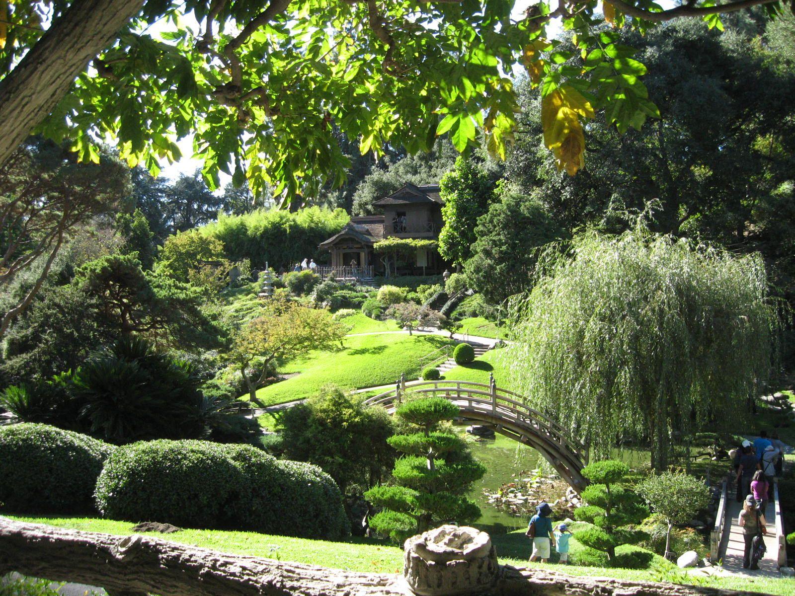 Japanese Garden At The Hunnington Library Gardens, San Marino (Near
